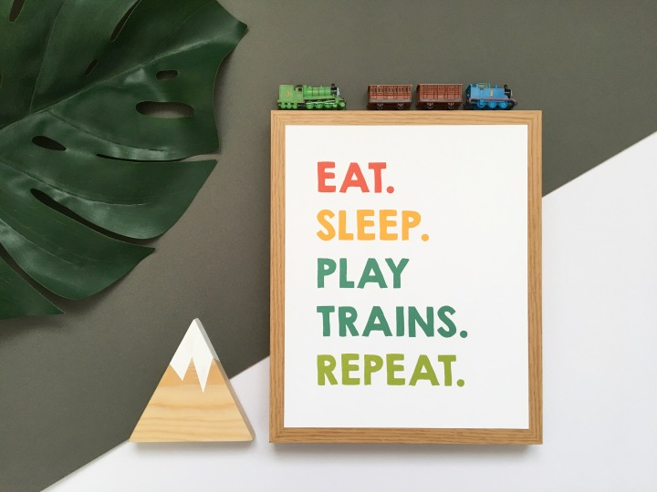 Eat. Sleep. Play trains. Repeat.